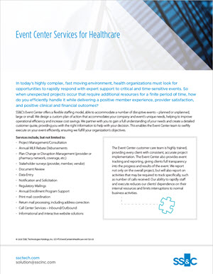 Event Center Services for Healthcare