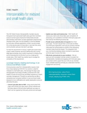 Interoperability for Small-Midsized Plans