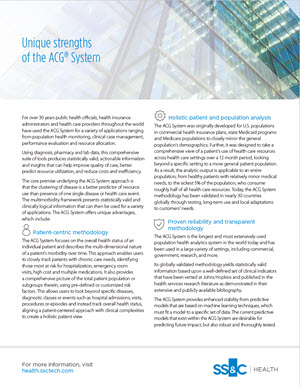 Unique Strengths of the ACG® System