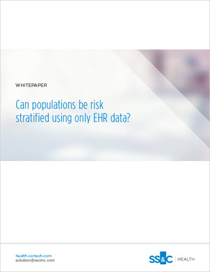 Can Populations be Risk Stratified Using Only EHR Data?
