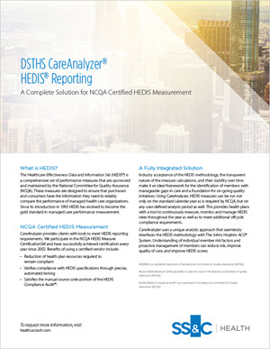 DSTHS CareAnalyzer® HEDIS® Reporting