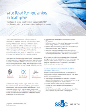Value-Based Payment services for health plans