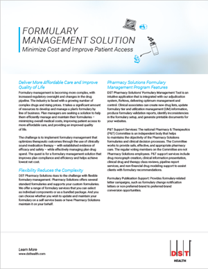 Formulary management solution